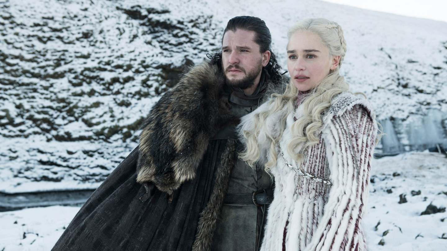 Jon Snow and Daenerys from Game of Thrones