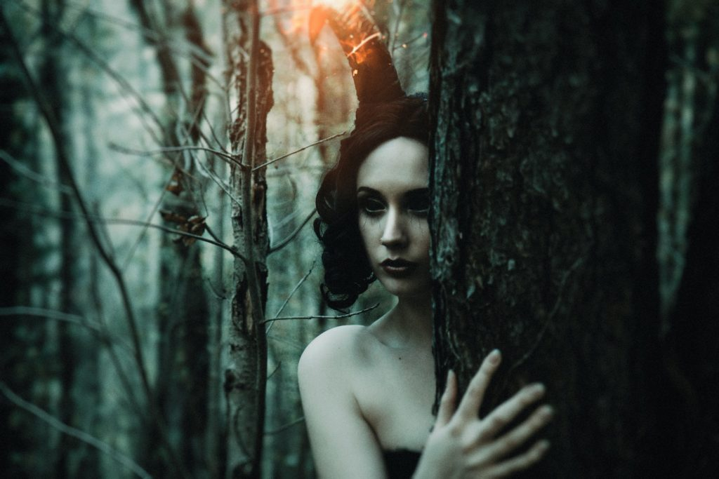 Demoness in woods