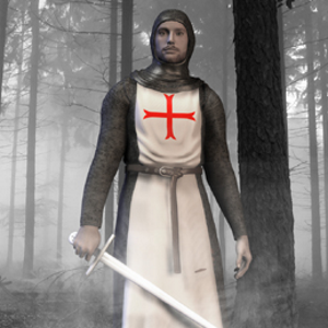 A Knights Templar in the woods